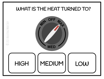 Stove & Oven Temperature Task Cards - Differentiated Life Skills