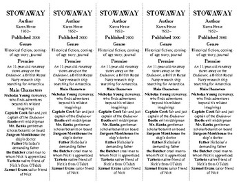 Stowaway edition of Bookmarks Plus: Fun Freebie for Students/Handy Reading Aid!