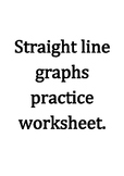 Straight line graphs practice worksheet