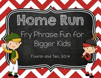 Home Run: Fry Phrase Fun for Bigger Kids