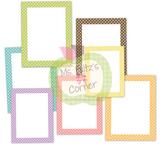 Digital Straight Frames: Pastel Dots