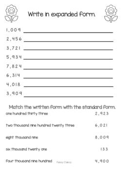 Straight Forward Standard Form Worksheet
