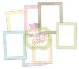 Digital Straight Frames: Pastel Gingham