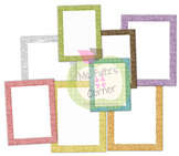 Digital Straight Frames: Pastel Glitter