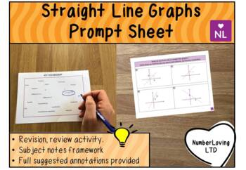 Straight Line Graphs (Prompt Sheet)