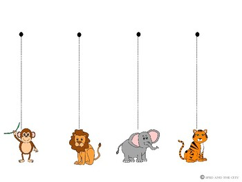 Straight Line Tracing Pack with Zoo Animals