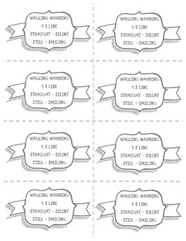 Classroom Management - Straight Lines Walking Warning