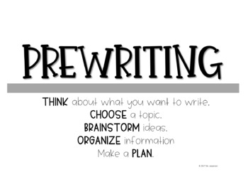 Writing Process/Writer's Workshop Posters *Straight Lines Theme*
