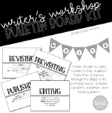 Writing Process Bulletin Board Posters Lines Theme