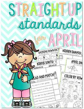 Straight Up! {Standards for April Printables}