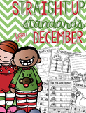 Straight Up! {Standards for December Printables}