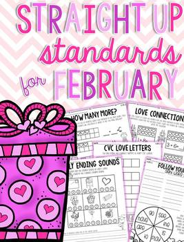 Straight Up! {Standards for February Printables}