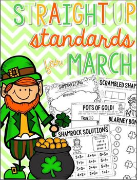 Straight Up! {Standards for March Printables}