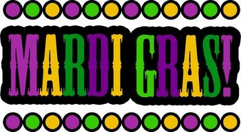 Mardi Gras Clipart - Black Line Included