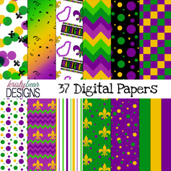 Straight from the Bayou - Mardi Gras Digital Papers {33}