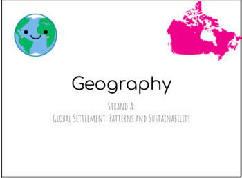 Strand A:  Global Settlement: Patterns and Sustainability