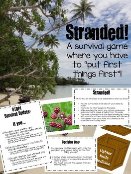 Stranded! A Guided Survival Game
