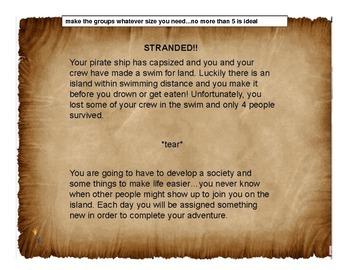 Stranded! Multidiciplinary group activity