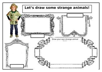 Strange Animals Drawing Worksheet