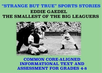 Strange and Amazing Sports #2: The Smallest of the Big Leaguers