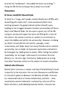 Strange Case of Dr Jekyll and Mr Hyde Handout