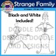 Strange Family Clip Art (Unusual, Weird, Wacky, Formal, Tuxedo, Suit, Rich)