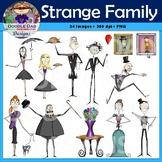 Strange Family Clip Art (Unusual, Weird, Wacky, Formal, Tu