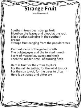 Strange Fruit Lesson