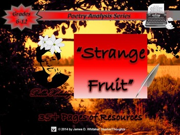 Strange Fruit performed by Billie Holiday Poem Analysis