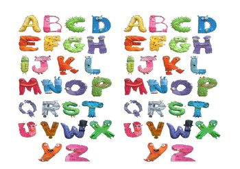 Strange Hairy Alphabet