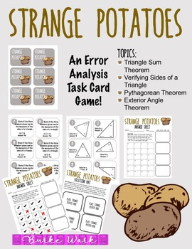 Strange Potatoes: An Error Analysis Task Card Game (Triangle Edition)