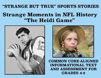 Strange and Amazing Sports #4: The Heidi Game