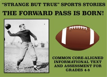 Strange and Amazing Sports #6: The Forward Pass is Born