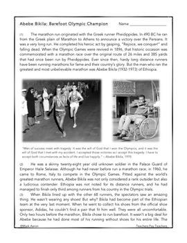Strange and Amazing Sports #7: Barefoot Olympic Champion
