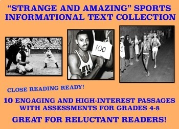 Reluctant Readers: Strange and Amazing Sports Passages and Assessments