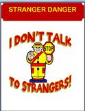 """""""Stranger Danger"""" -lesson, 4 activities"""