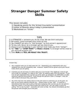 Stranger Danger Safety Skills for Summer