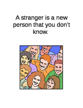 Stranger Danger Social Story - 9 pages (editable)