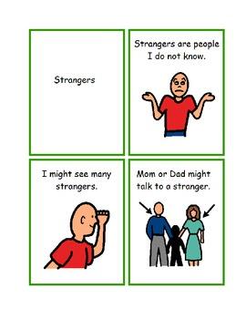 Stranger Danger Social Story Worksheets Visual Helper Special Education Autism