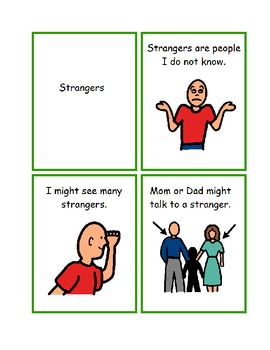 A Danger To Students With Disabilities >> Stranger Danger Social Story Worksheets Visual Helper ...