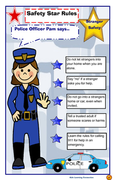 Poster: Stranger Safety Rules by KidZ Learning Connections ...