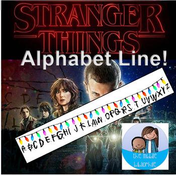 Stranger Things Alphabet Line // Stranger Things Room Decor