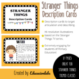 Stranger Things Description Cards in English