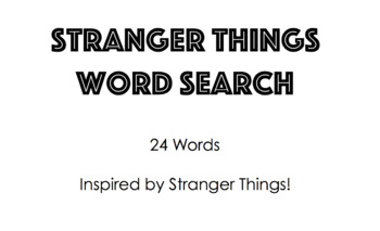 Stranger Things Inspired Word Search