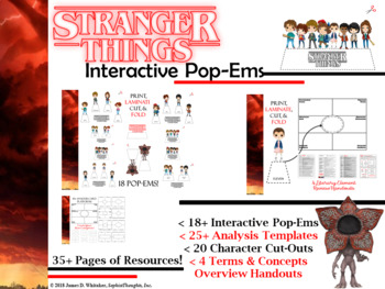 Stranger Things Interactive Character Pop-Ems
