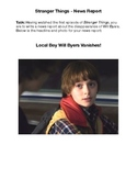 Stranger Things - News Report - The Disappearance of Will Byers