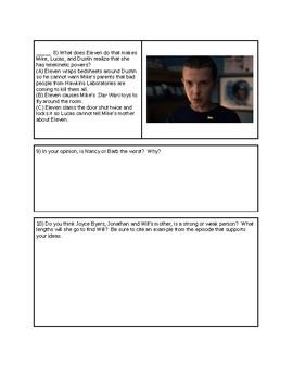 Stranger Things - Season 1, Episode 2 questions