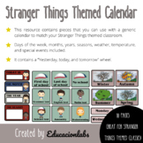 Stranger Things Themed Calendar in English