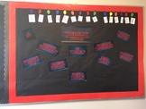 Stranger Things Themed Counseling Bulletin Board
