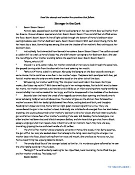 Stranger in the Dark Reading Passage w/questions